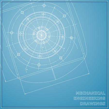 Mechanical engineering drawings. Engineering illustration. Vector background