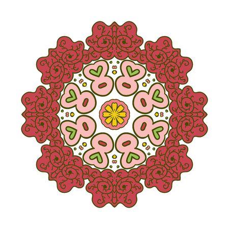 motifs: Floral lace motifs. Mandala. Zentangl relaxation. Hand drawn background.