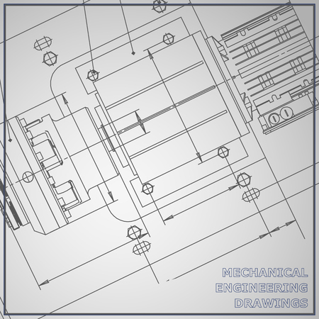 Meccanica disegno sfondo grigio. Vector Engineering. Corporate Identity