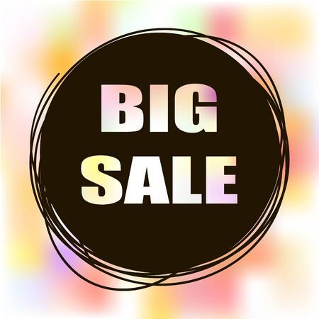 sale tag: Doodle sale tag. Big Sale banner