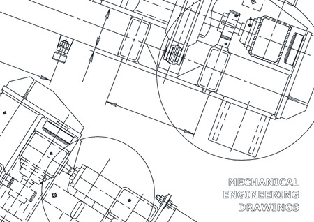 Dibujo de Ingeniería Mecánica. Blueprints. Mecánica. Cubierta, fondo