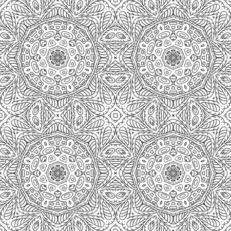 an example: Seamless pattern doodle ornament. Ethnic motives. Zentangl. Coloring