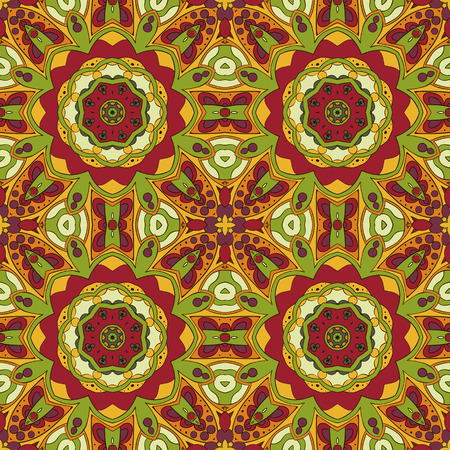 oriental rug: Oriental pattern. Traditional seamless ornament. Mandala. Turkey, Egypt, Islam. Relaxing picture. Doodle drawing. Red and orange tone
