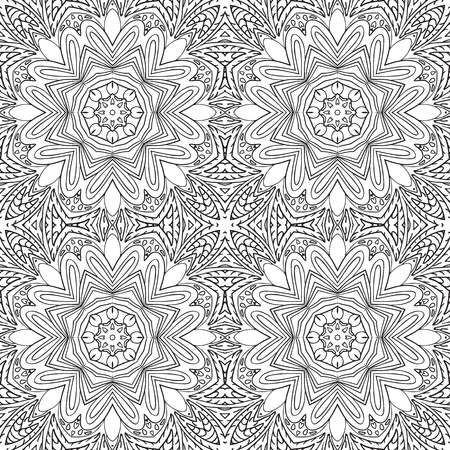an example: Seamless doodle pattern. Coloring Ethnic motives