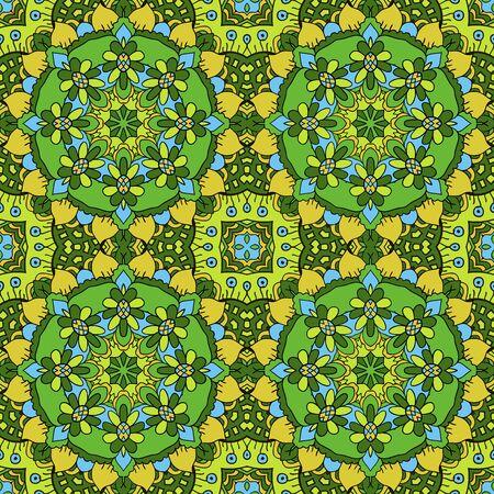 oriental rug: Oriental beautiful ornament. Mandala. Seamless. Hand drawing Illustration