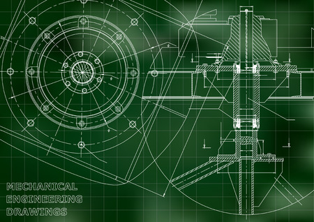 Mechanical engineering drawings Vector.