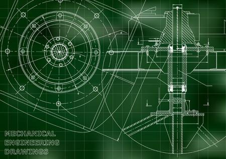 Mechanical engineering drawings Vector.