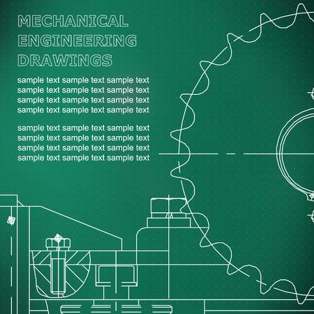 Mechanical engineering drawing.