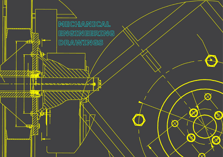 Technical illustration. Mechanical engineering. Gray