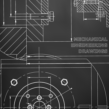 Mechanics. Technical design. Corporate Identity. Black background