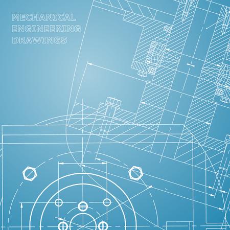 Mechanics. Technical design. Engineering. Corporate Identity. Blue and white