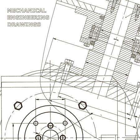 Mecánica. Diseño técnico. Ingenieria. Identidad corporativa Ilustración de vector