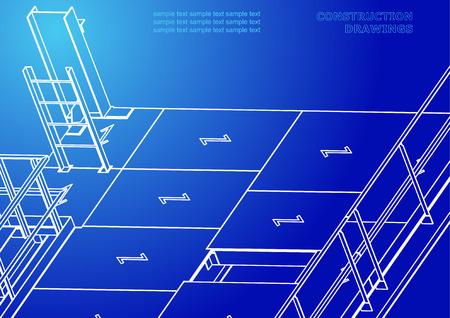 Metal constructions. Volumetric constructions. 3D design
