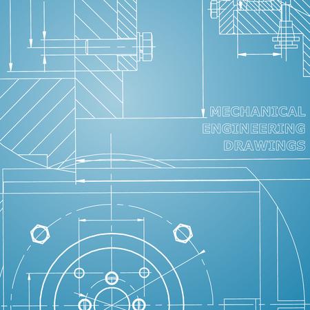 Mechanics. Technical design. Corporate Identity. Blue and white