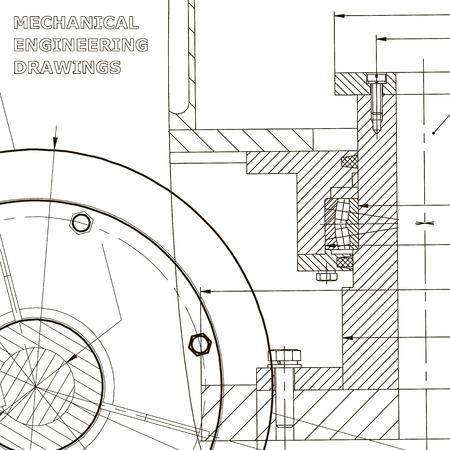 Backgrounds of engineering subjects. Technical illustration. Mechanical engineering Vetores