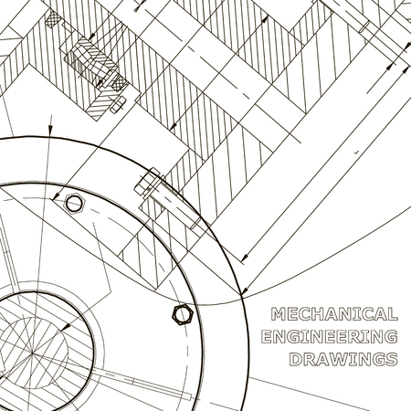Backgrounds of engineering subjects. Technical illustration. Mechanical