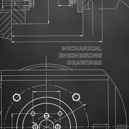 Mechanics. Technical design. Engineering style. Mechanical. Corporate Identity. Black background. Points