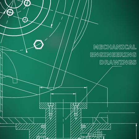 Mechanics. Technical design. Light green background