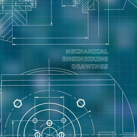 Mechanik. Technisches Design. Ingenieursstil. Mechanisch. Unternehmensidentität. Blauer Hintergrund. Netz