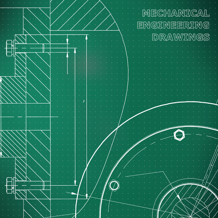 Light green background. Points. Technical illustration. Mechanical engineering. Technical design. Instrument making. Cover, banner, flyer, background. Corporate Identity