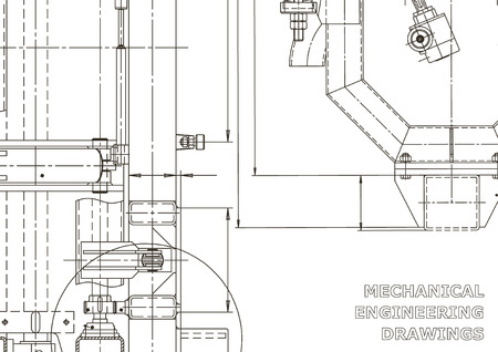 Technical abstract backgrounds. Mechanical instrument making. Technical illustration. Blueprint, cover