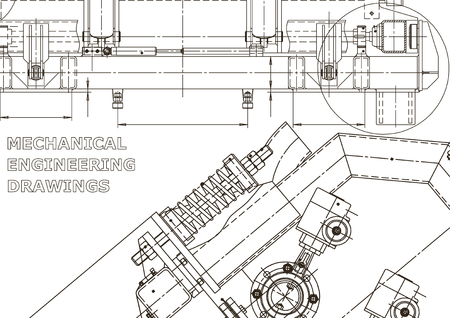 Computer aided design systems. Technical illustrations, backgrounds. Mechanical Vettoriali