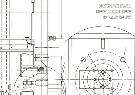 Mechanical instrument making. Technical abstract backgrounds. Technical illustration