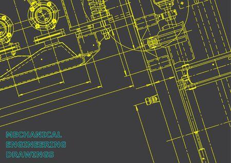 Blauwdruk. Vector technische illustratie. Computerondersteund ontwerpsysteem. Grijs Vector Illustratie