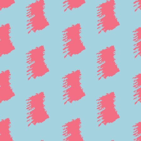 Hand drawing, background. Trendy seamless pattern. Stylish intricate pattern. Brush strokes, stains. Interesting textures. Turquoise and pink Ilustracja