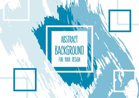 Universal background. Abstract background for your design. Colorful elements. Cover, flyer, banner, web print Acrylic paints Ilustracja