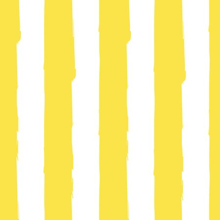 Striped seamless pattern. Abstract stripes. Hand drawing, brushes, blots. Modern textures. Original background. Vertical stripes. Yellow