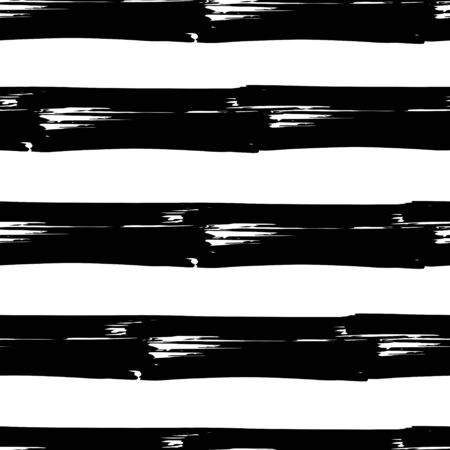 Original background. Striped seamless pattern. Abstract. Horizontal stripes. Black and white drawing