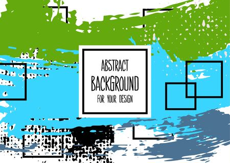 Universal background. Abstract background for your design. Cover, flyer, banner, web, print. Colorful elements. Acrylic paints. Wallpaper