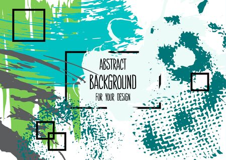 Abstract background for your design. Universal background. Cover, flyer, banner, web, print. Colorful elements. Acrylic Wallpaper