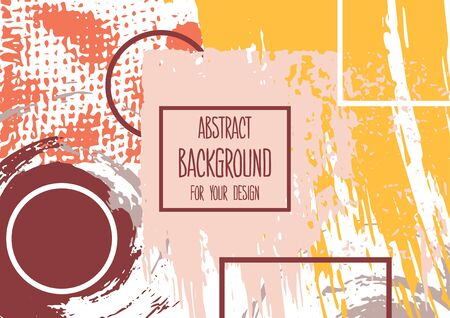 Universal background. Abstract background for your design. Cover, flyer, banner, web, print. Colorful elements. Acrylic paints, brushes. Creative