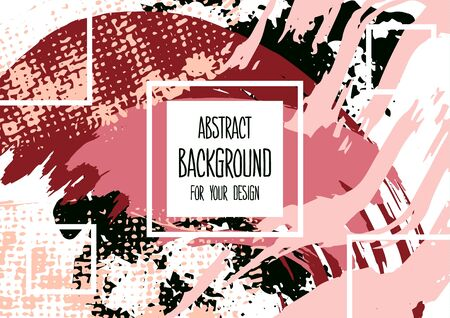 Universal background. Abstract background for your design. Colorful elements. Cover, flyer, banner, web print Acrylic