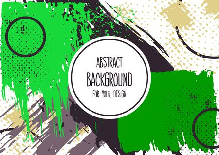 Universal background. Abstract background for your design. Cover, flyer, banner, web, print. Colorful elements Acrylic paints brushes blots geometric shape