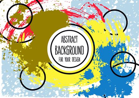 Universal background. Abstract background for your design. Cover, flyer, banner, web, print. Colorful elements. Acrylic paint. Creative