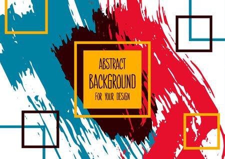 Universal background. Abstract background for your design. Colorful elements. Cover, flyer, banner, web, print. Acrylic paints. Creative