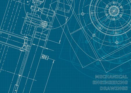 Corporate style. Vector engineering illustration. Cover, flyer, banner, background. Instrument-making drawing