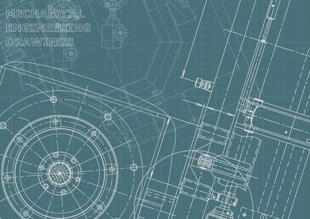 Corporate Identity. Blueprint. Vector engineering illustration. Cover Stock Illustratie