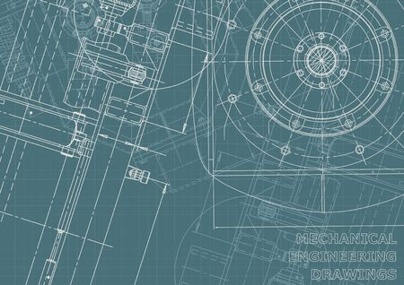 Corporate Identity. Blueprint. Vector engineering illustration. Cover, flyer, banner