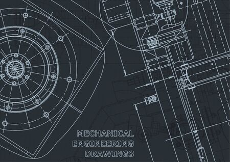 Corporate Identity. Vector engineering illustration. Cover, flyer, banner background Instrument-making Vector Illustratie