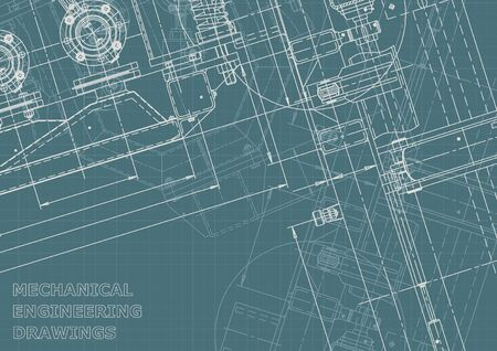 Corporate Identity. Blueprint. Vector engineering illustration. Computer aided design system