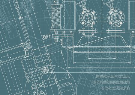 Corporate Identity. Mechanical instrument making. Technical abstract backgrounds. Technical illustration