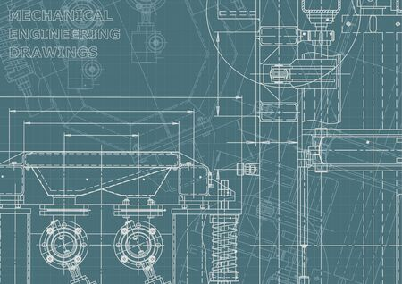 Machine-building. Instrument-making. Computer aided design system. Corporate Identity Vector Illustration