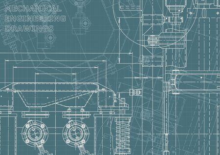 Machine de construction. Fabrication d'instruments. Système de conception assistée par ordinateur. Identité d'entreprise Vecteurs