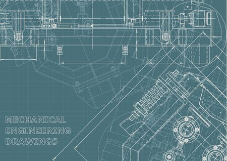 Technical abstract backgrounds. Vector engineering drawings. Mechanical Corporate Identity