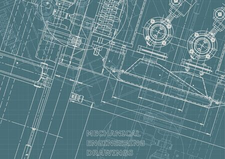 Sketch. Vector engineering illustration. Computer aided design systems. Corporate Identity. Technical illustrations, backgrounds