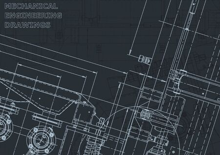 Corporate Identity. Blueprint. Vector engineering illustration. Computer aided design systems. Instrument-making